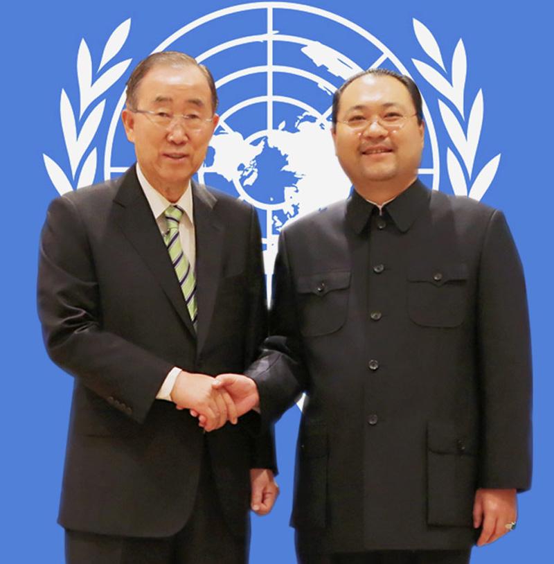 第八任联合国秘书长潘基文阁下高度赞赏太和木作修复世界文化遗产故宫博物院乾隆花园文物家具