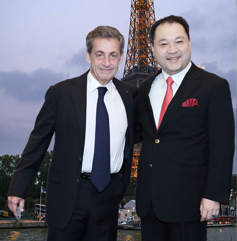关毅先生会见法国前总统尼古拉·萨科奇阁下